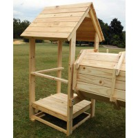 Tower with wooden roof 300mm